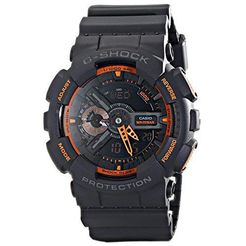 9eabaf041b6 Casio Men s GA-110TS-1A4 G-Shock Analog-Digital Watch With Grey Resin Band