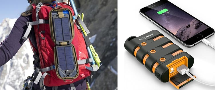 Portable battery bank and Solar panel-power source