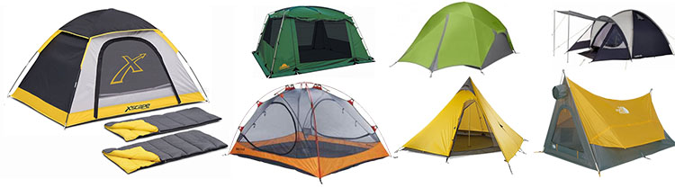 Tents for hikers