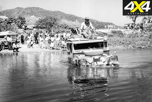 land rover in water 1950