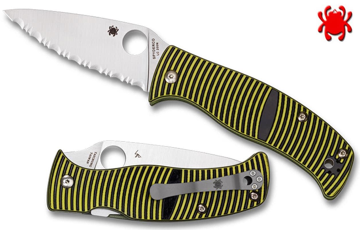 spyderco serrated edge edc knife