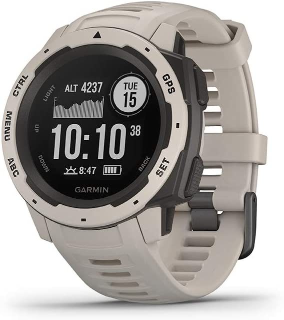 Garmin Instinct- Rugged Outdoor Watch with GPS- Features GLONASS and Galileo